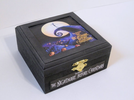 Nightmare Before Christmas Wooden Trinket or Jewelry Box
