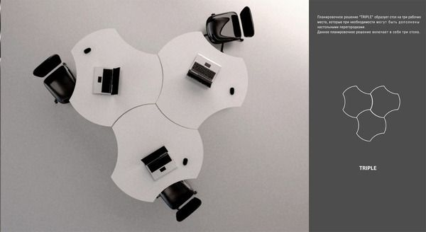 "Mobile furniture ""Flower"" by Olga Kryukova, via Behance"