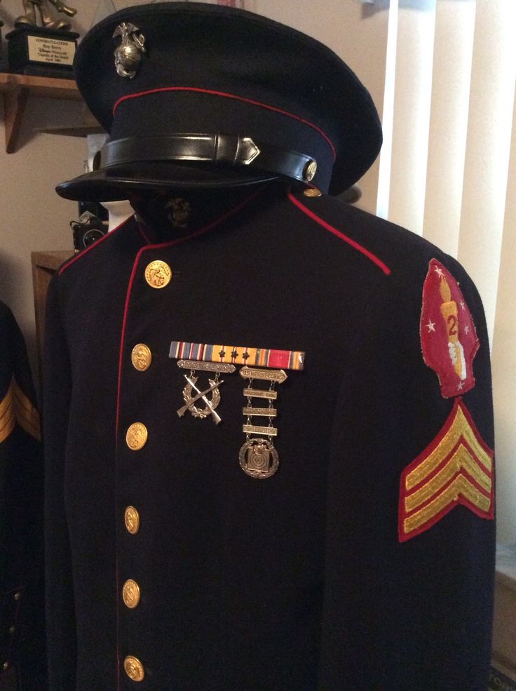 Wwii Marine Dress Blue Uniform Second Division Roy Berry