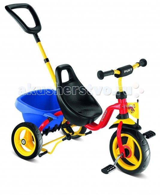 Велосипед трехколесный Puky CAT 1S  Трехколесный велосипед Puky Cat 1S отличный транспорт для катания ребенка от 2 до 4 лет! Родительская ручка регулируется по высоте. После того, как ребенок освоит педали и начнет кататься самостоятельно, родительская ручка может быть отсоединена.  Puky Cat 1S обладает бесшумным и мягким ходом. Широкая колесная база обеспечивает максимальную устойчивость.  Материалы: металл, пластик высокое качество окраски  Характеристики: предназначен для катания детей от…