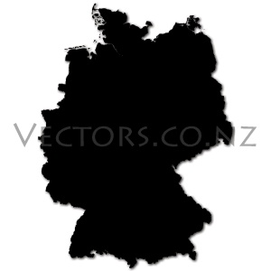 Blank Vector Map of Germany