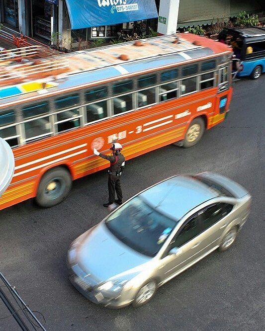 Policeman on Nakhon Si Thammarat Thailand.