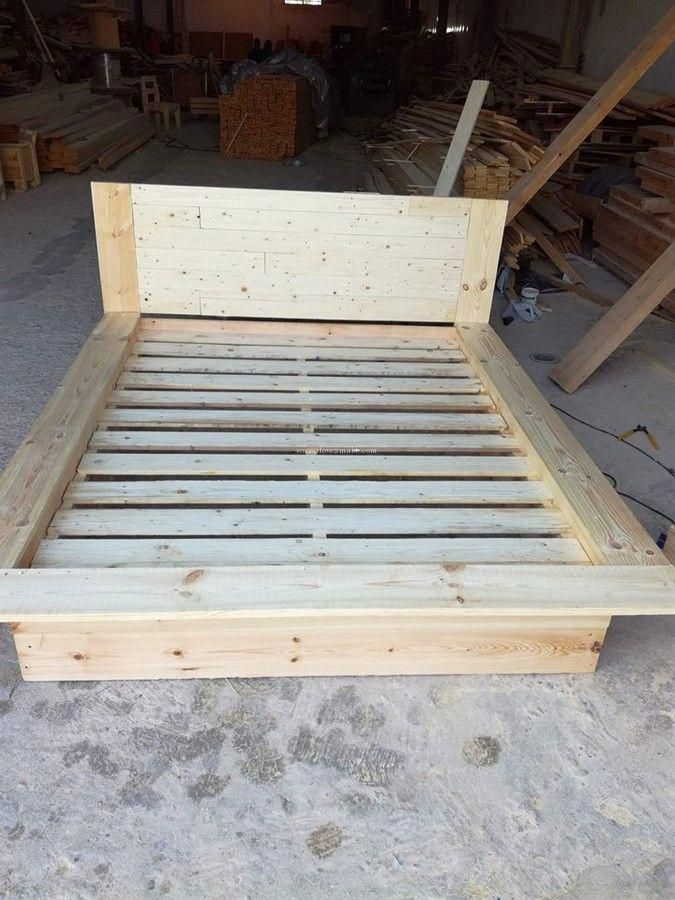 27 Incredible Bed Frame Queen No Box Spring Required Bed Frame On The Ground Furnitureshop Furniture Wooden Bed Frame Diy Wood Pallet Beds Homemade Bed Frame
