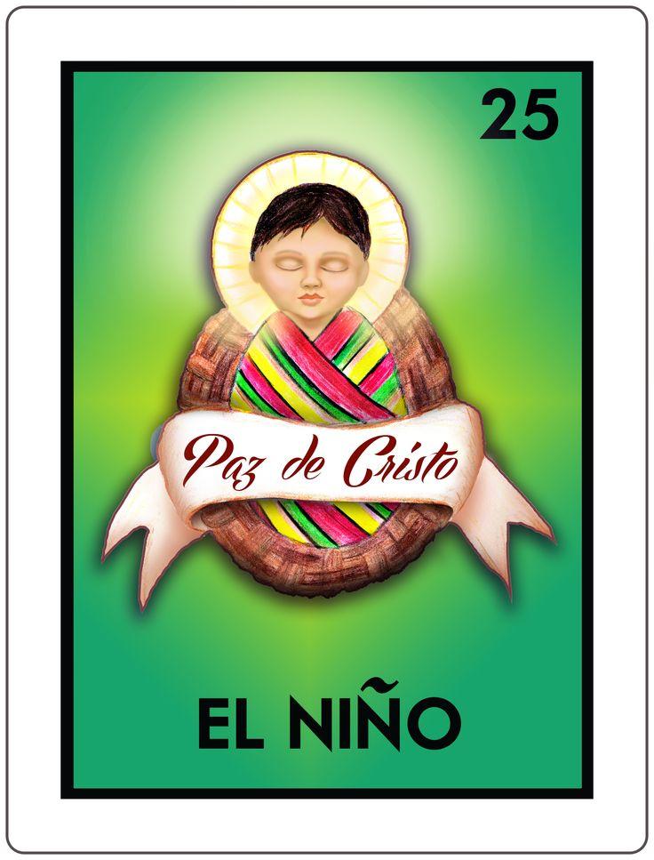 CasaQ El Niño Mexican bingo card