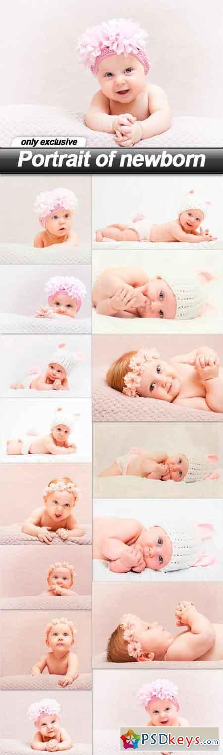 Portrait of newborn - 15 UHQ JPEG