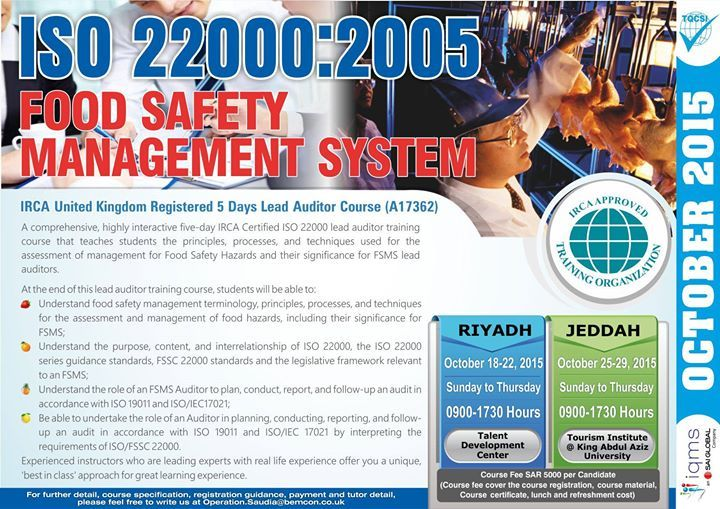 ISO 22000:2005 Food Safety Management System