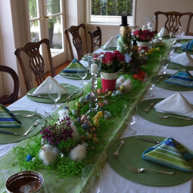 Easter table setting & 188 best Easter Tables images on Pinterest | Table decorations ...
