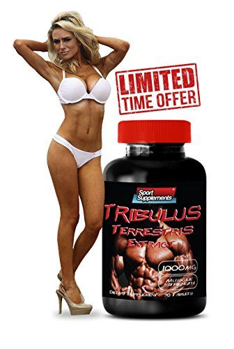 Tribulus Terrestris Extract 1000mg - Top Natural Testosterone Booster - Premium Qaulity (1 Bottle 90 Tablets) * You can get additional details at the image link.