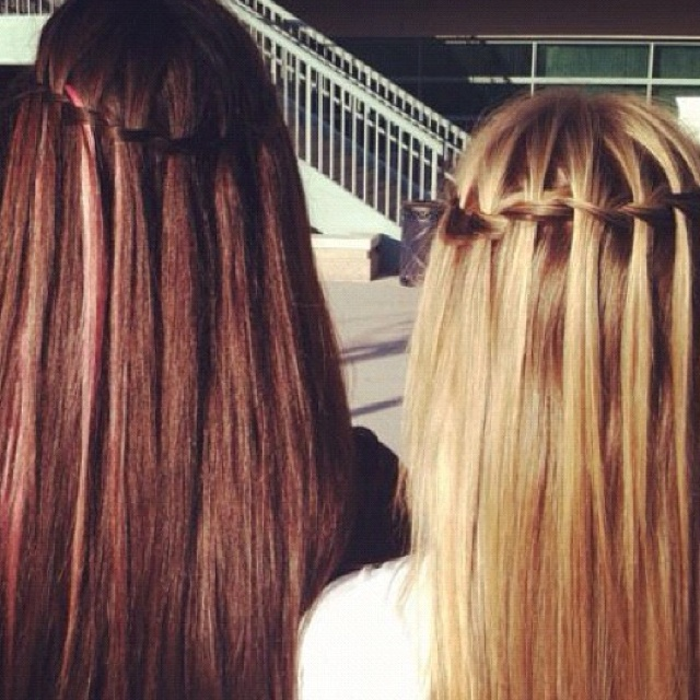 Water fallHairstyles, Best Friends, Waterfal Braids, Makeup, Long Hair, Inspiration Pictures, Beautiful Hair, Hair Style, Waterfall Braids