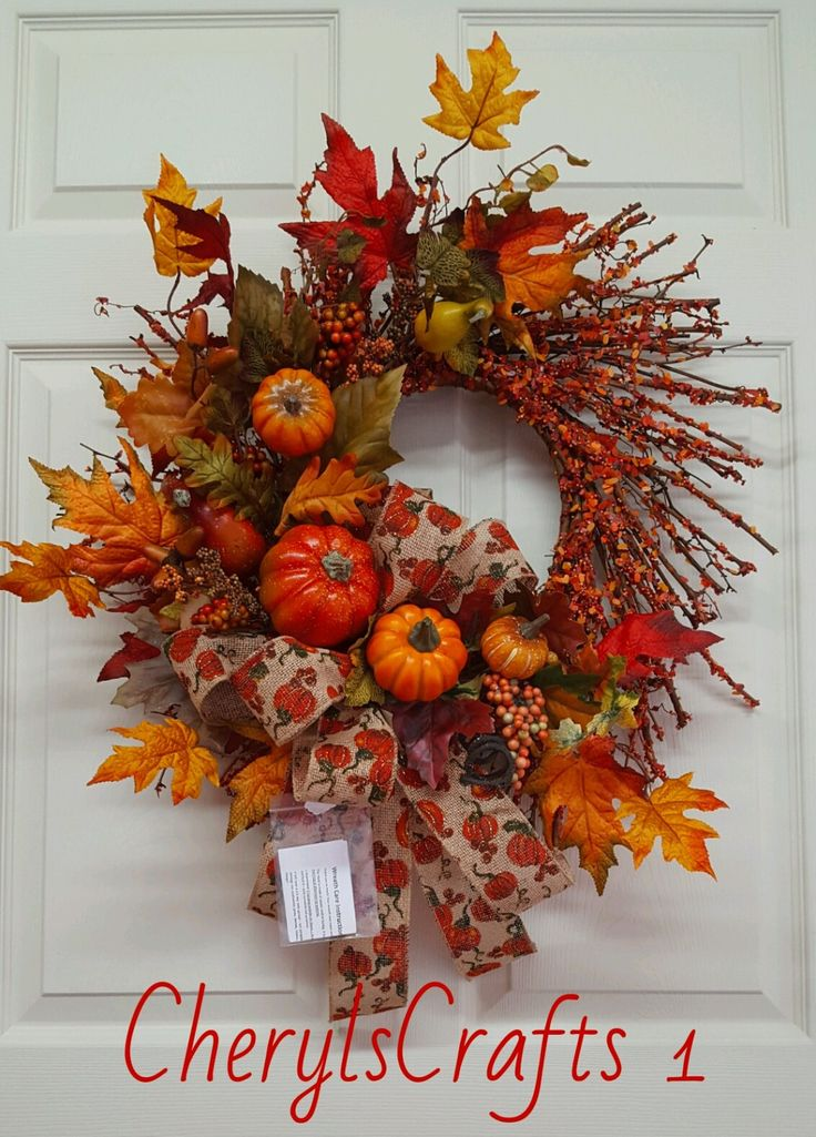 Fall, Fall Wreath, Autumn Wreath,Fall GrapevineWreath, Fall Door/Wall Decor, Thanksgiving,Thanksgiving Door/Wall Decor, by CherylsCrafts1 on Etsy