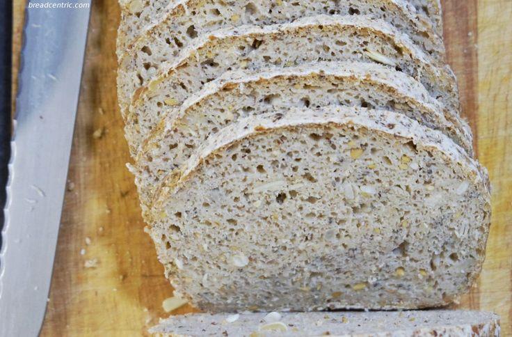 Bezglutenowy chleb na zakwasie - miękisz