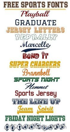 Fabulously SPORTS fonts thumb Free Sports Fonts                                                                                                                                                                                 More