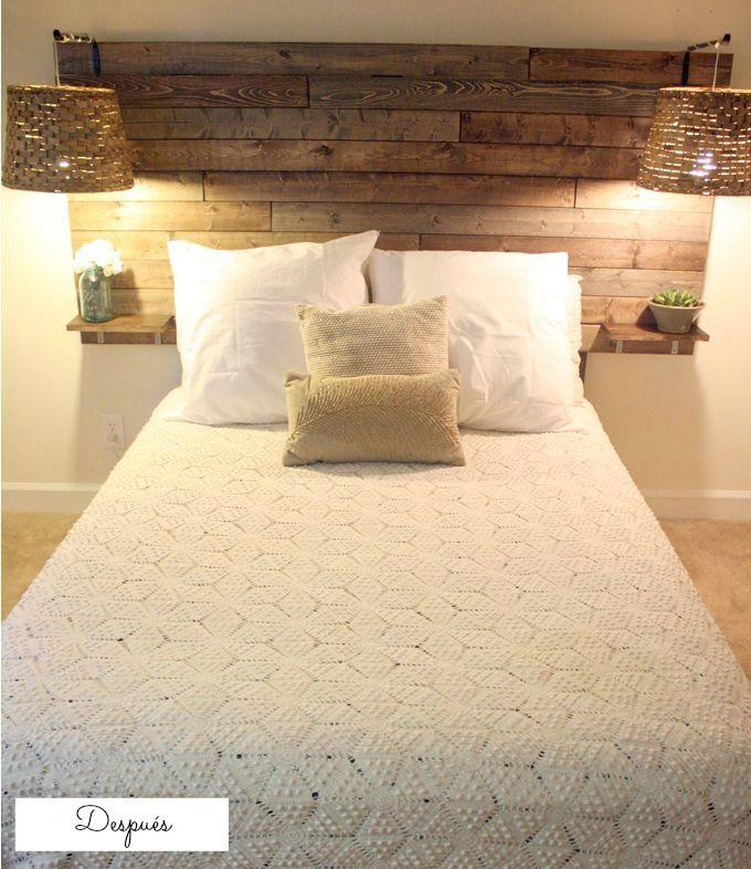 Un@ podría pensar que colocando un palet en la habitación poco se puede renovar y menos aún con buen gusto. Sin embargo, con los palets se pueden hacer auténticas maravillas y dar un cambio realmen…