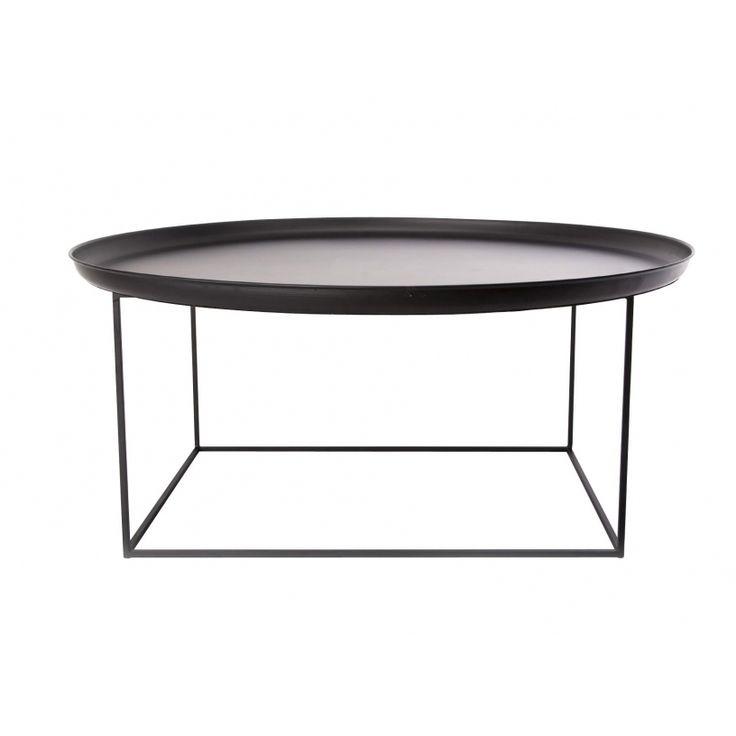 Duke sidobord soffbord brickbord NORR 11 market29 svart pulverlackerat stål metal avlastningsbord