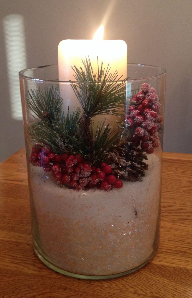Winter centerpiece christmas pinterest