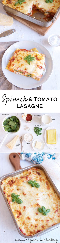 A simple, vegetarian lasagne with a creamy Béchamel sauce   eatlittlebird.com
