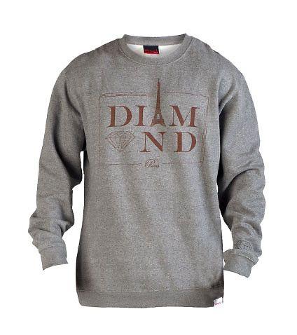 DIAMOND SUPPLY COMPANY Crew sweatshirt Long sleeves Soft inner fleece for comfort DIAMOND SUPPLY COMPANY logo lettering on front