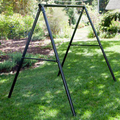 flexible flyer metal lawn swing frame porch swing frames accessories at hayneedle - Metal Swing Frame