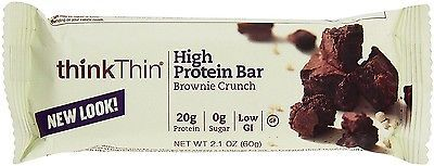 Snack Bars 179185: Think Thin High Protein Bar, 2.1 Oz Bars, Brownie Crunch 10 Bars (Pack Of 9) -> BUY IT NOW ONLY: $165.52 on eBay!