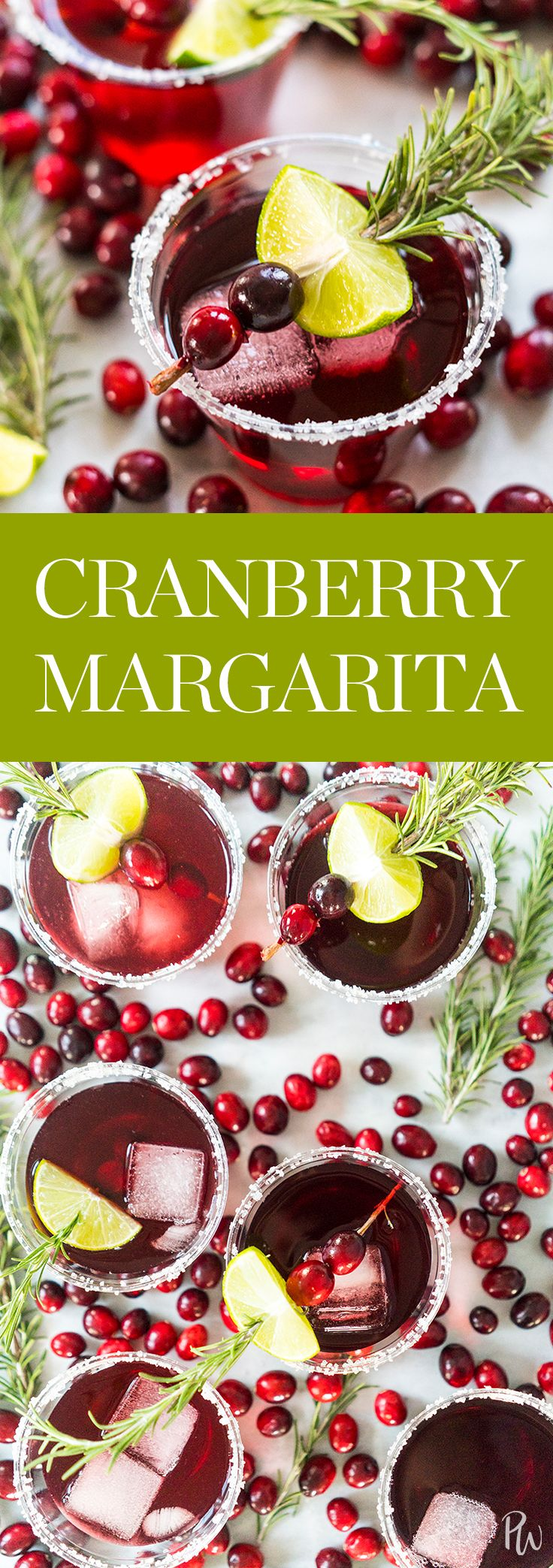 Cranberry Margarita #purewow #recipe #cooking #cocktail #food #easy