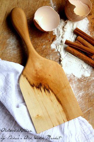 Basic Wood Cookie Spatula | Fine Handcrafted Kitchen Utensil – Old World Kitchen