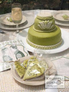 zöld tulipános esküvői arculat