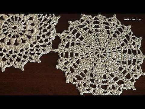 How to crochet tunic  Motive for tunic sweater top  doily  Part 2