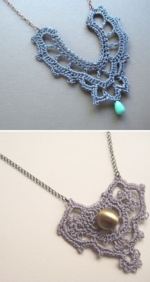 Crochet necklaces. Oh, so many patterns that would work