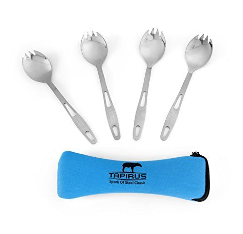 Whether you catch your food grow your food or still rely on the grocery store these stainless steel sporks will conquer anything you put on your plate.  Preparing for your next camping adventure? Ch...