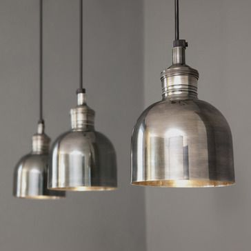 Best Kitchen Lighting Images On Pinterest Pendant Lamps - Silver kitchen light fixtures