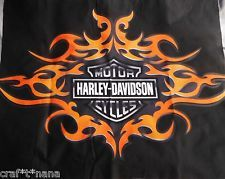 Harley-Davidson Quilt Panels | Harley Davidson fabric panel new unwashed 22X26