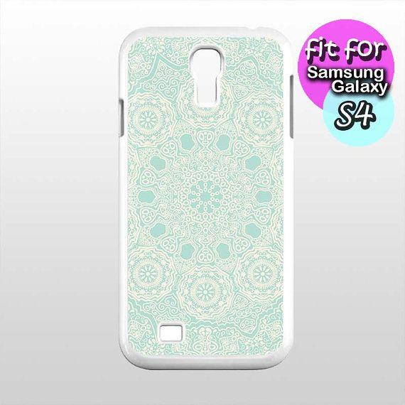 mandala blue mint pattern case for samsung galaxy s4 by etbay, $12.99