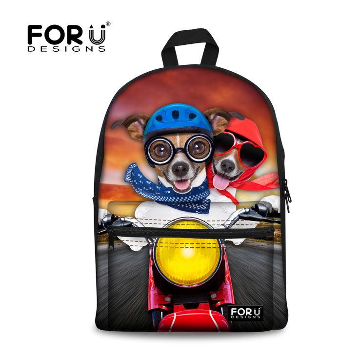 Kawaii Girls Boys Backpacks for School Cute Pet Dog Printing Children Backpacks High School Student Kids Knapsack Bookbags