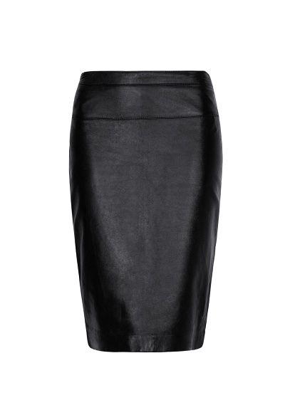 MANGO - Leather pencil skirt