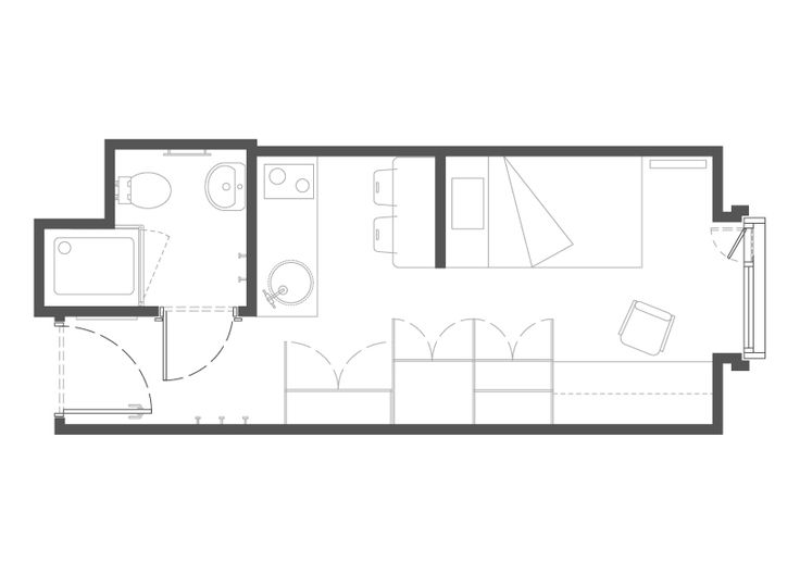 Floor Plan For 23 39 X 14 Studio Apartment Google Search