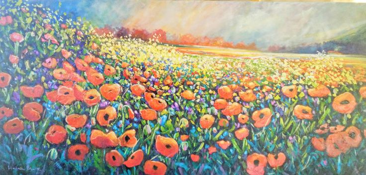 Poppies, by Helen Blair, www.helenblairsart.co.nz