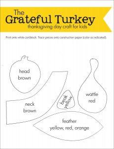 Grateful Turkey Thanksgiving Day Craft For Kids