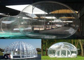 Porcellana tenda gonfiabile della bolla del PVC di 1.0mm chiara/tenda di campeggio per il diametro della festa di famiglia 4m fornitore