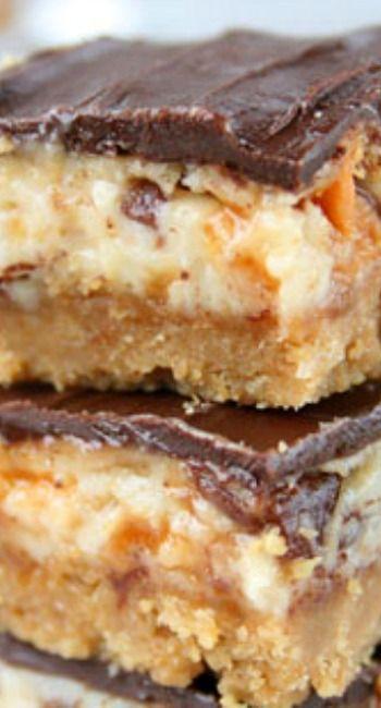 Butterfinger Cheesecake Bars