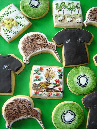 new zealand inspired cookie... http://nzallblacks.net
