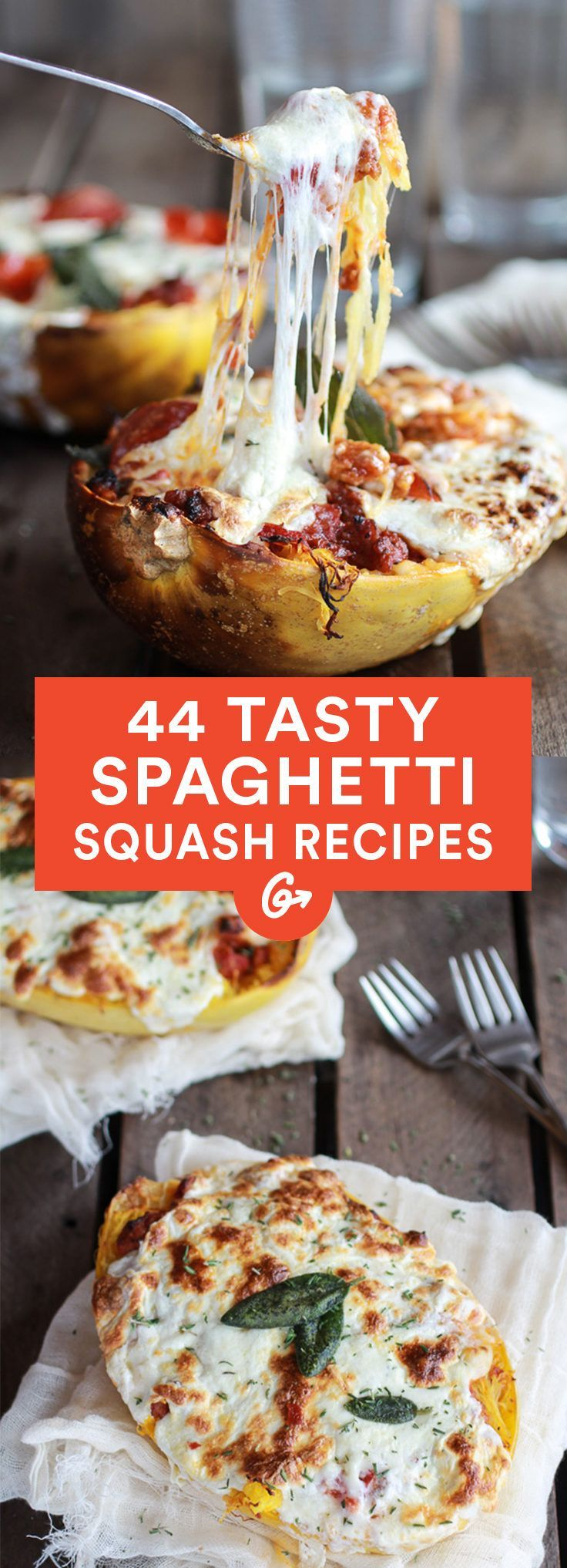 From lasagna boats to burrito bowls, we've got the recipes to satisfy your carb cravings.  #comfortfood #squash #spaghettisquash #vegetarian #vegetarianrecipes http://greatist.com/eat/spaghetti-squash-recipes