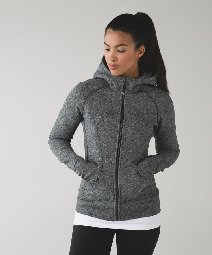 Whether we're heading out to the studio or snuggling inside on a cold day, our fleecy Scuba™ Hoodie is our go-to layer.  A longer length gives us a little extra coverage and ribbed panels on the sides give us plenty of room for high fives, bear hugs and cuddles on the couch.