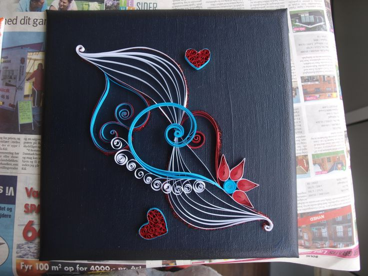 Paper Quilling Painting in two layers.  -Louise Mirabilis