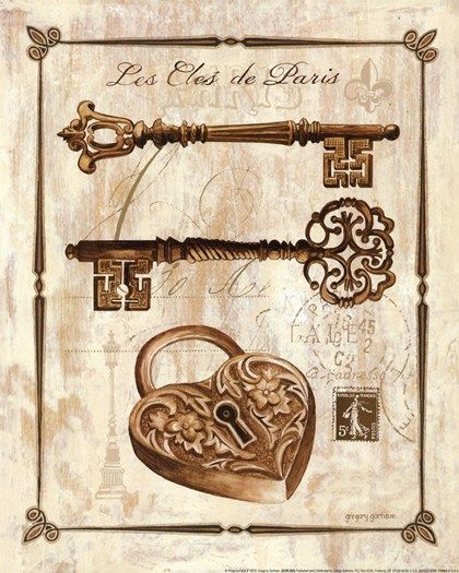 Keys to Paris II by Gregory Gorham art print
