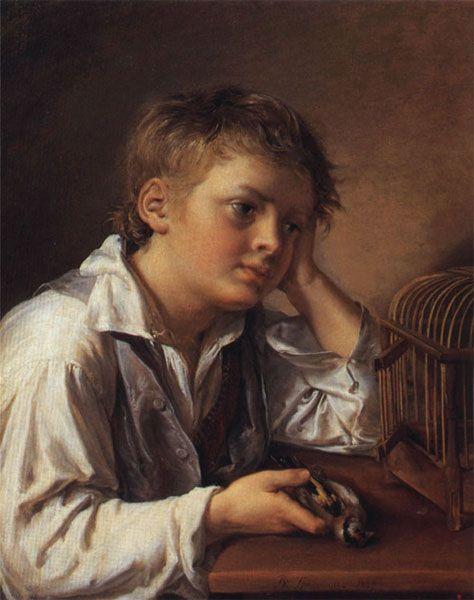 Тропинин Василий Мальчик с мертвым щегленком, 1829