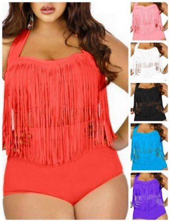 modest and flattering Plus Size Bathing Suit Cute
