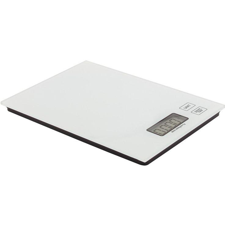 Balança digital para cozinha branca 5 Kg - 12169 - Utilplast | Utilplast