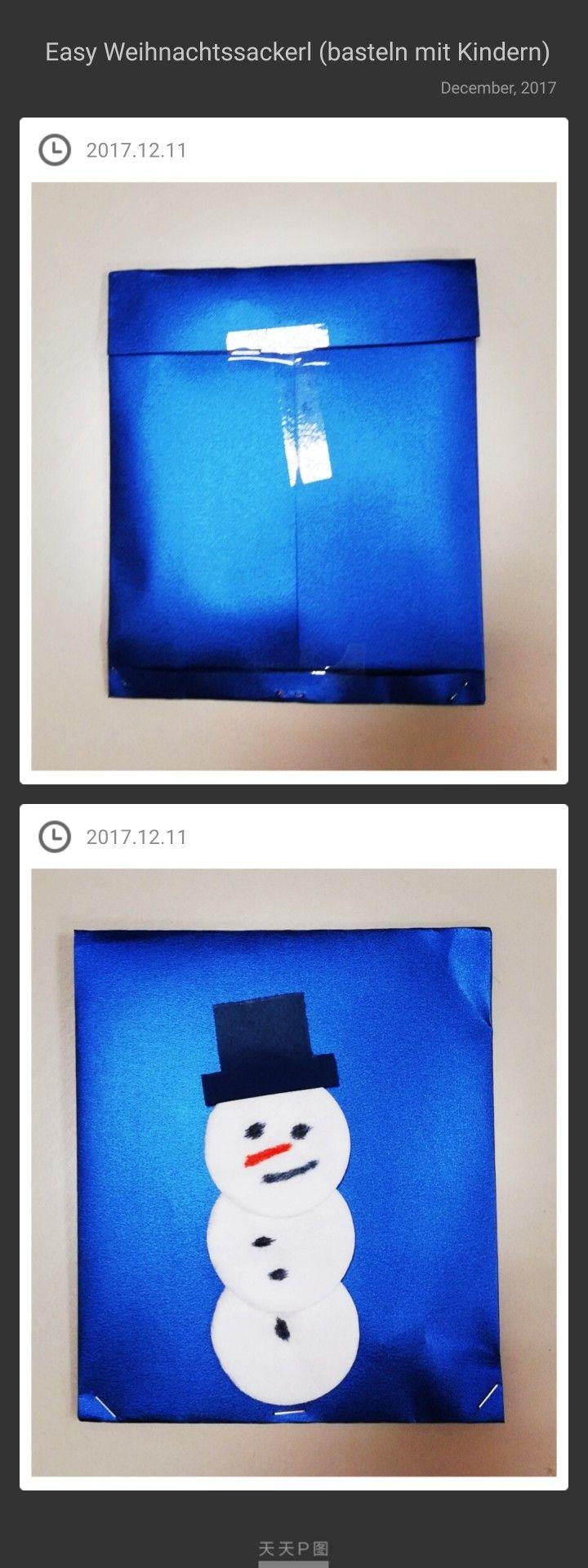 Eine schnelle leichte Geschenkidee. Einfaches Geschenkspapier, Wattepats, Filzstifte machbar ab 4 Jahren