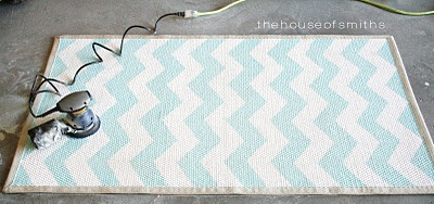 Painted Chevron area rug