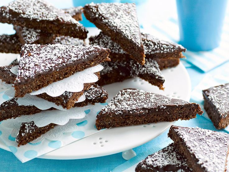 Chocolate and coconut slice, coconut recipe, brought to you by Woman's Day